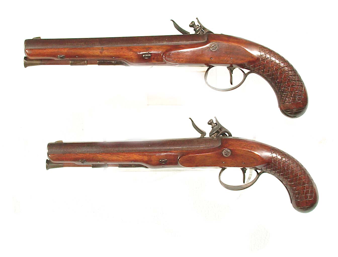 Monty Whitley Inc Pair Of Durrs Egg Flintlock Dueling